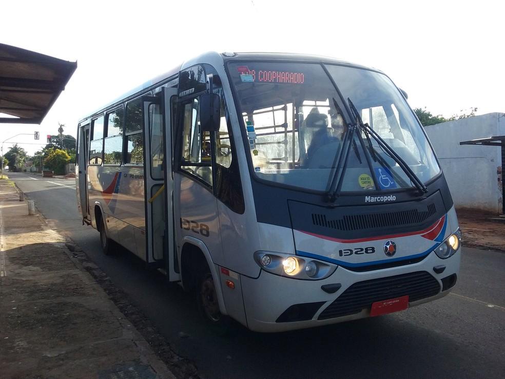 Ônibus do transporte coletivo em Campo Grande — Foto: Fernando da Mata/G1 MS
