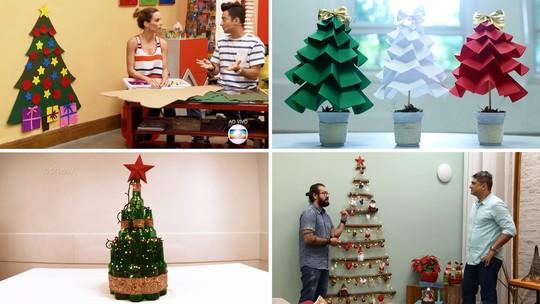 Ideias para montar uma árvore de Natal barata e criativa