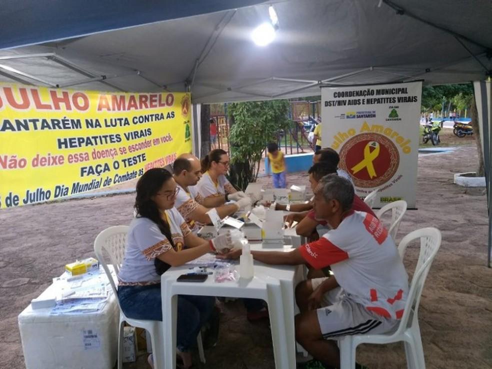 -  A equipe do Centro de Testagem e Aconselhamento  CTA  realizou uma série de atendimentos à população, no Parque da Cidade  Foto: Divulgação/Prefeitur