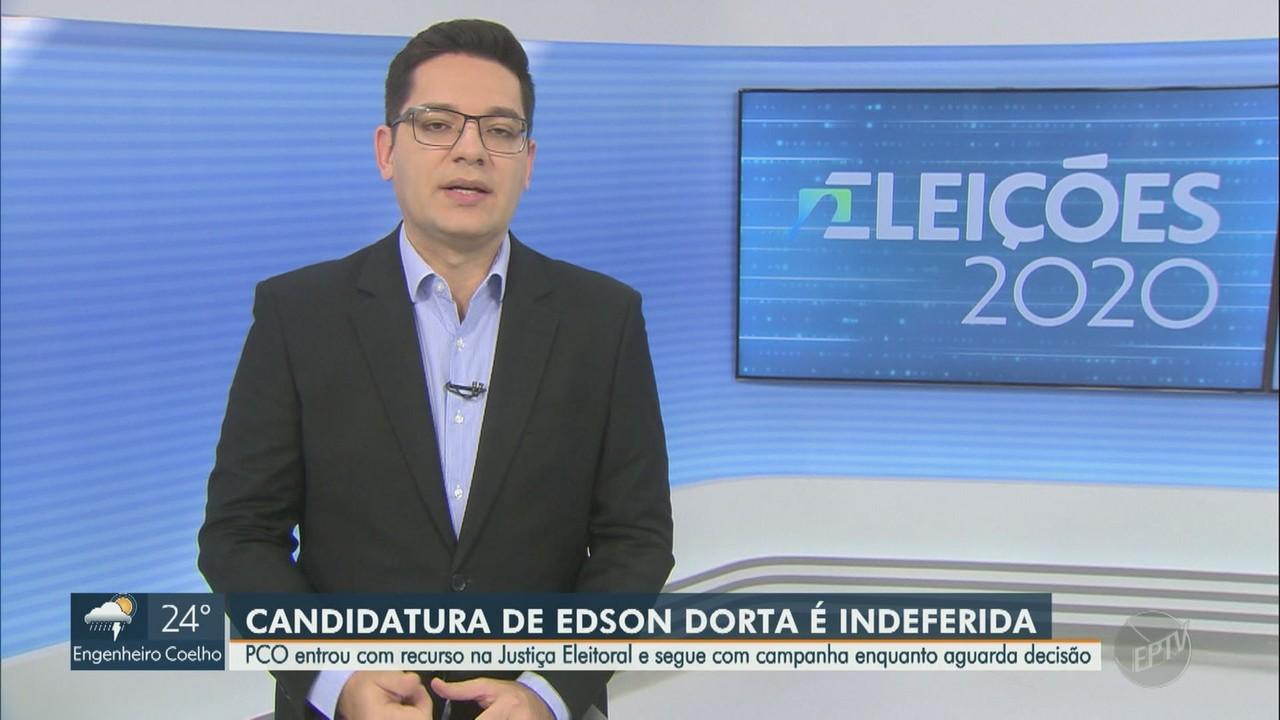 Justiça indefere candidatura de Edson Dorta à Prefeitura de Campinas, SP
