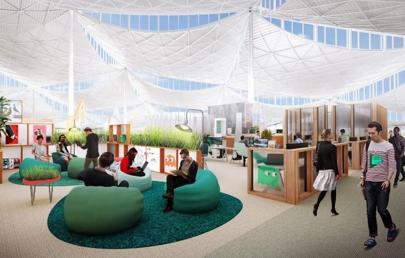 Projeto de escritório para o Google, feito por Bjarke Ingels  (Foto: Reprodução)