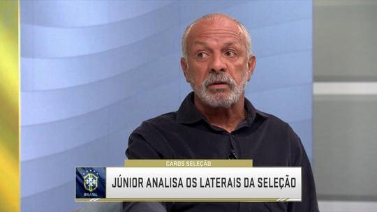 Com Militão e Alex Sandro à frente de Fabinho e Filipe Luís, Júnior avalia laterais da Seleção Brasileira