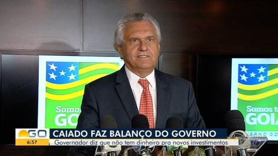 Caiado afirma que déficit herdado é de R$ 4 bilhões e diz não ter dinheiro para investir