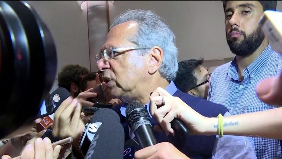 Paulo Guedes — Foto: Reprodução/TV Globo