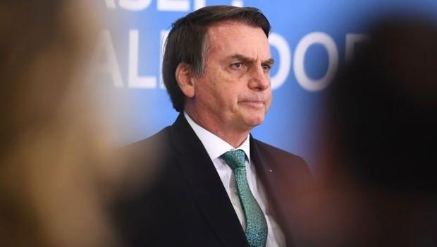 'Sempre tomei cuidado nas informações estratégicas, essas não são passadas via telefone', declarou Bolsonaro (Foto: EVARISTO SA/AFP)