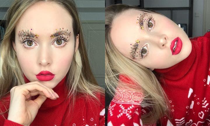 Maquiagem para o Natal: sobrancelhas bizarras que estão bombando na web