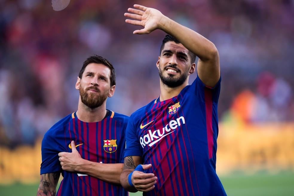 Messi e Suárez: de olho no Grêmio (Foto: Getty Images)
