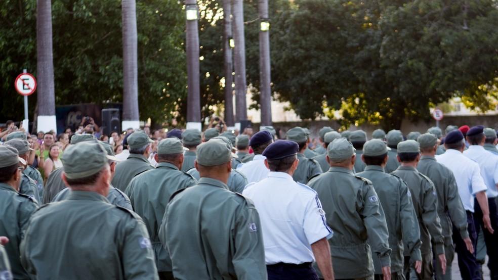 Ceará vai convocar 1,2 mil policiais da reserva para reforçar o combate a facções criminosas — Foto: Fernanda Siebra/SVM
