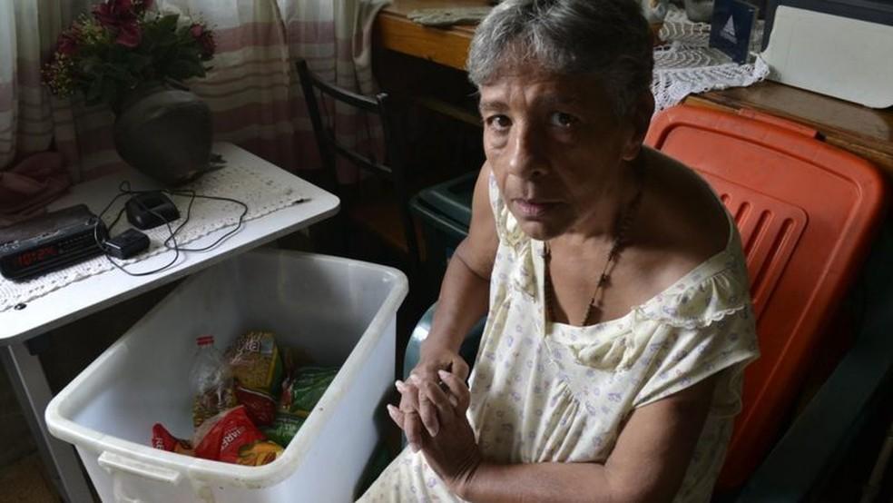 Faz muito tempo que Norma não come carne, frango ou leite — Foto: Oswer Diaz Mireles via BBC