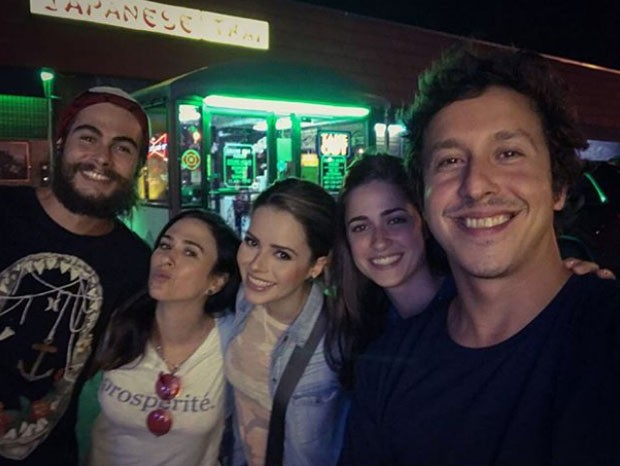 Rafa Vitti, Tatá Werneck, Sandy, Duda e Rafa (Foto: Reprodução)