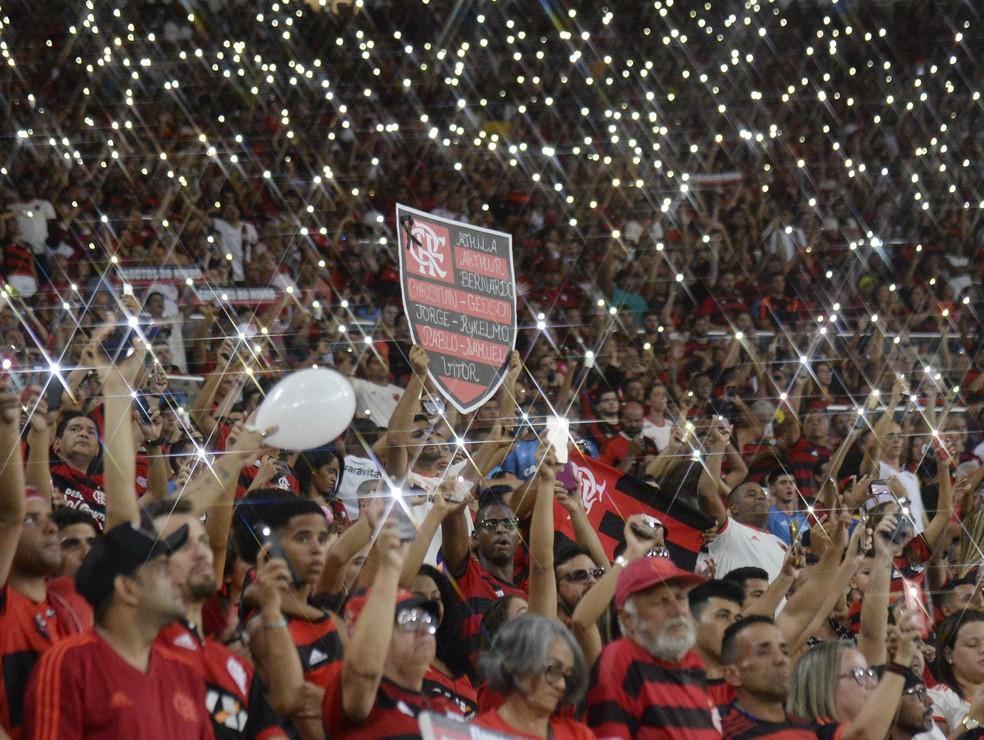 Torcida do Flamengo no Maracanã — Foto: André Durão