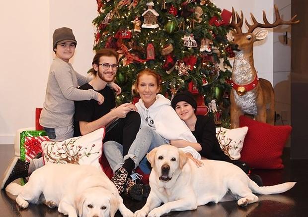 Celine Dion com a família (Foto: Instagram/ Reprodução)