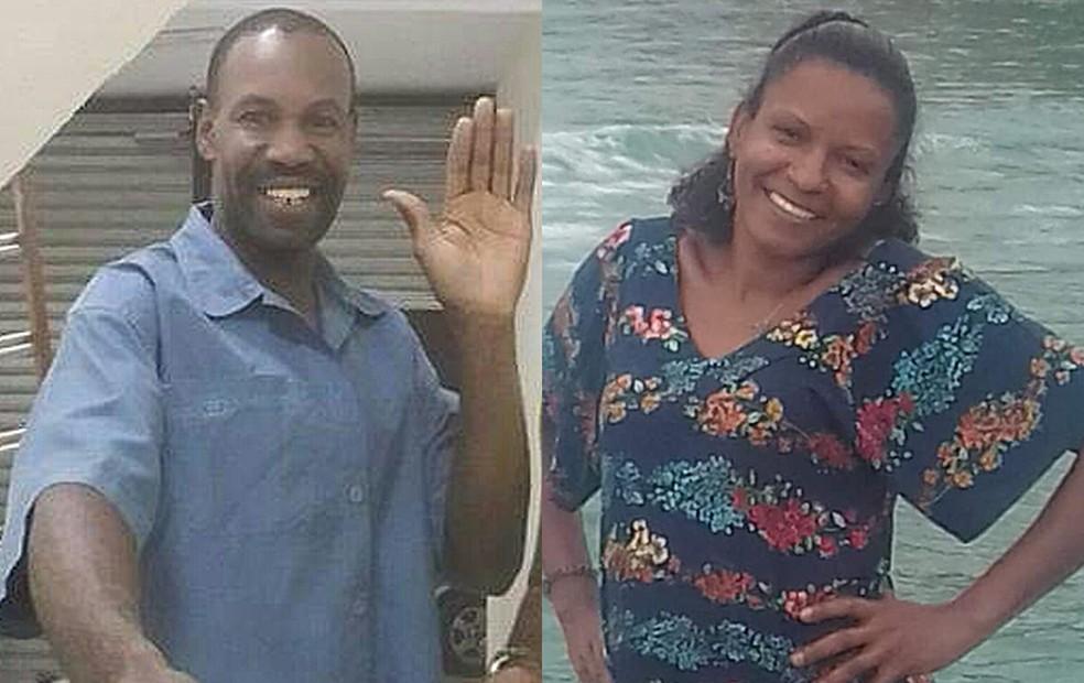 Carlos Armando de Jesus, de 50 anos, e a ex-mulher dele, a dona de casa Monique Heliodoro, de 39 anos — Foto: Reprodução/Redes Sociais