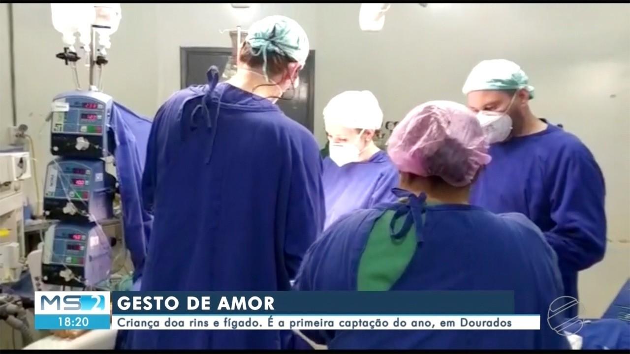 Criança doa rins e fígado. É a primeira captação do ano, em Dourados.