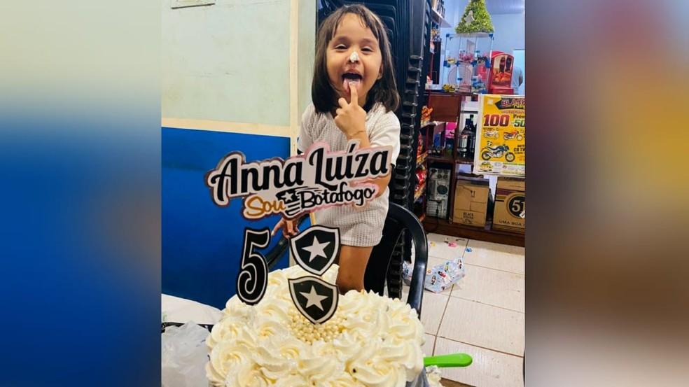 Anna Luíza de 5 anos — Foto: Arquivo pessoal