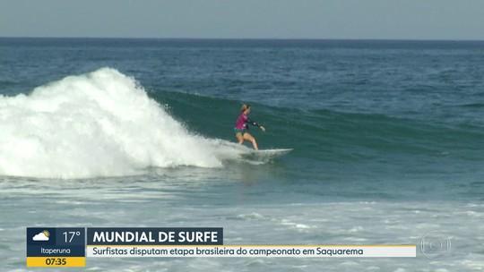 Surfistas disputam etapa brasileira do Mundial em Saquarema