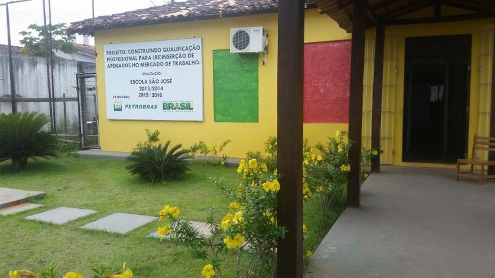 Candidatos se prepararam na escola São José, localizada dentro do penitenciária (Foto: Ariane Lopes/Secom)