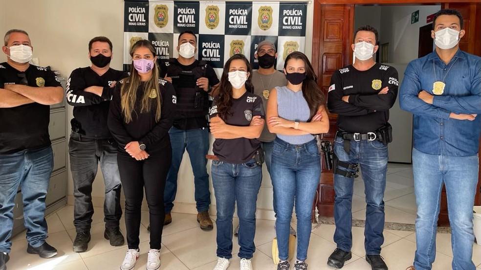 Equipe que atuou na operação — Foto: Polícia Civil/Divulgação