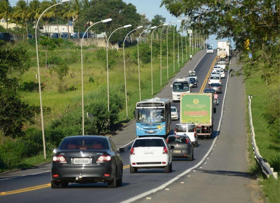 Trechos, como o da Serra a Fundão, receberiam terceiras faixas para melhorar fluidez do trânsito  (Foto: Vitor Jubini/A Gazeta)