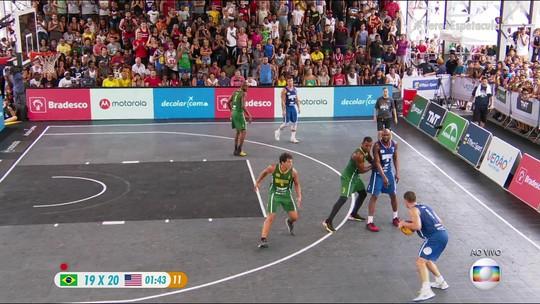 Brasil luta muito, mas perde Desafio Gigantes do 3x3 para os EUA