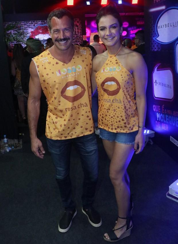 Malvino Salvador e Kyra Gracie (Foto: AgNews)