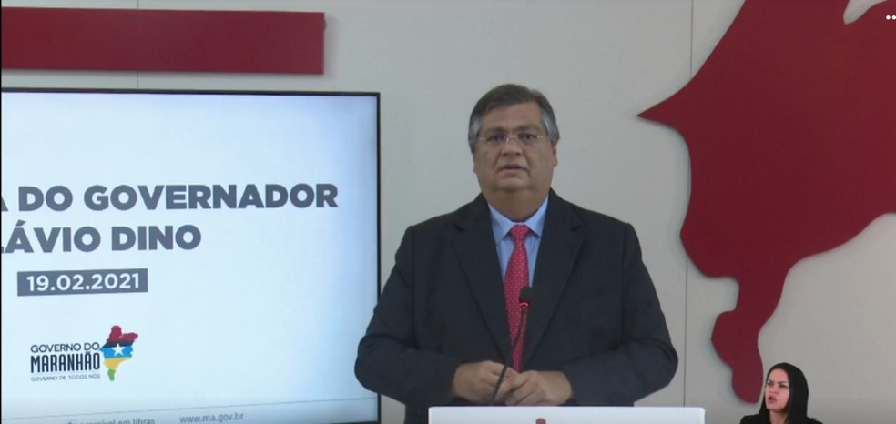 Flávio Dino diz que depende do Ministério da Saúde para definir nova etapa de vacinação no MA — Foto: Reprodução