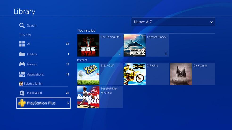 Novas abas da biblioteca do PS4 facilitam o gerenciamento dos jogos (Foto: Divulgação/Sony)