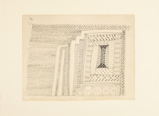 Em desenho de 1927, Paul Klee dava pistas de seu interesse pela arte popular tradicional  (Foto: Mari Carvalho/Divulgação)