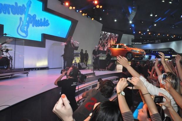 Chevrolet Salao Automovel Show Ana Carolina (Foto: Divulgação)