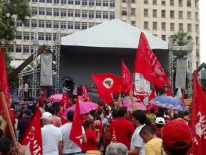 protesto na praça do ferreira (Foto: Divulgação)