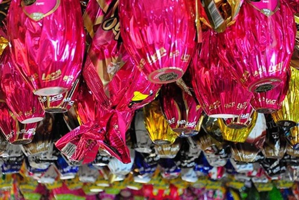 Ovos de Páscoa em supermercado de Palmas — Foto: Procon Palmas/Divulgação