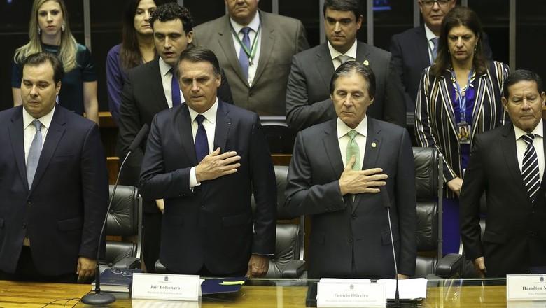 Jair Bolsonaro na cerimônia de posse da Presidência da República (Foto: José Cruz/Agência Brasil)