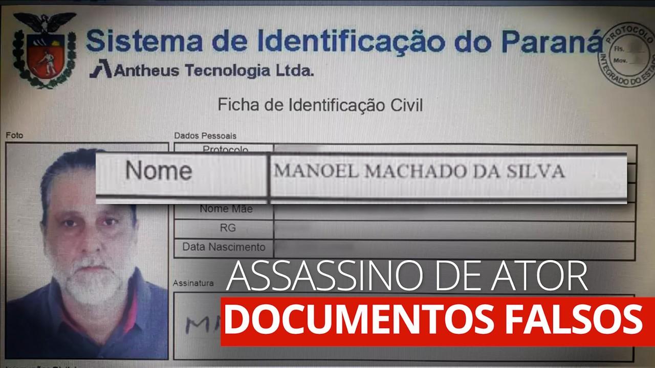 Assassino do ator Rafael Miguel usa identidade falsa de 'Manoel Machado da Silva'
