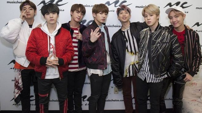 Banda pop sul coreana BTS (Foto: GETTY IMAGES via BBC)