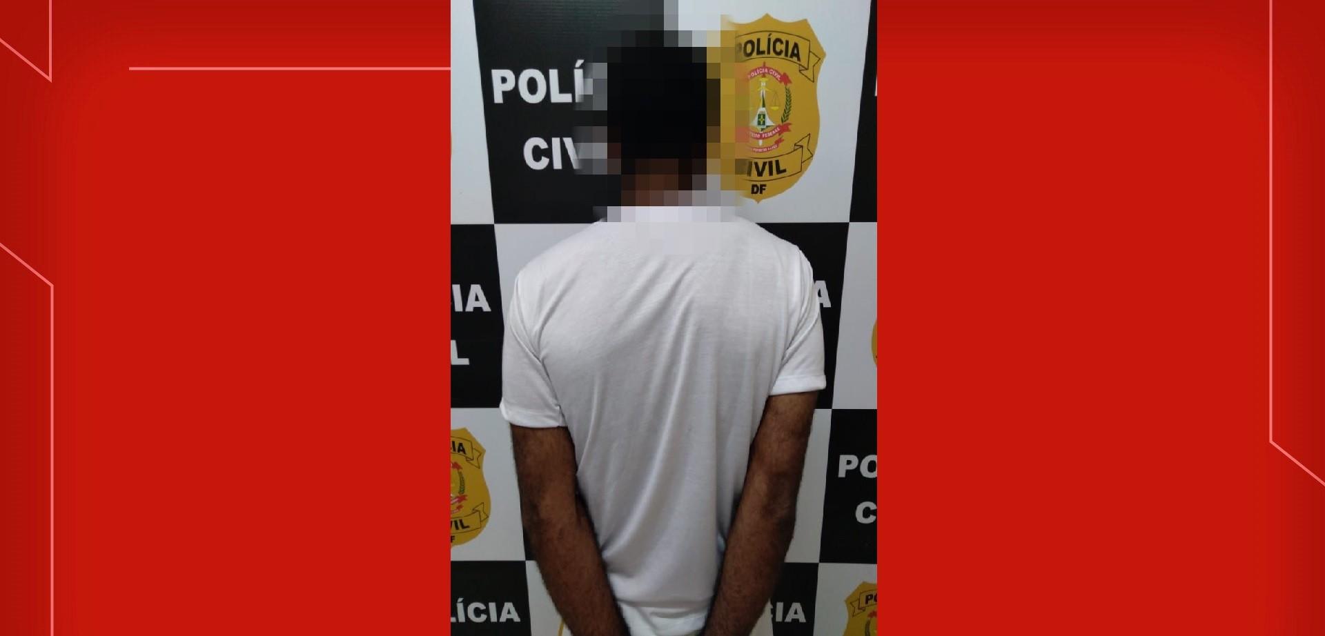 Homem é preso suspeito de agredir duas mulheres com barra de ferro, no DF