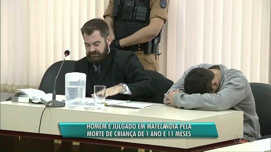 Padrasto vai a júri em Matelândia acusado de matar enteada de um ano e 11 meses