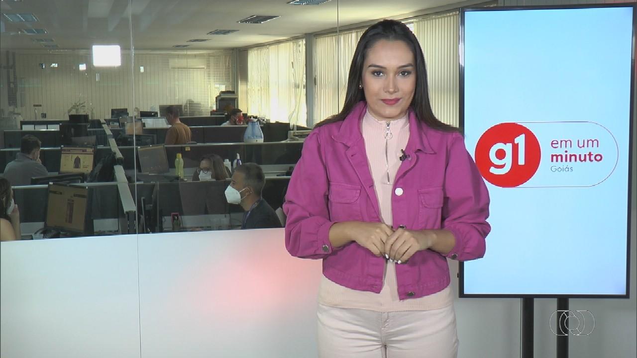 VÍDEOS: G1 em 1 Minuto - Goiás, de 27 de setembro a 1º de novembro de 2021