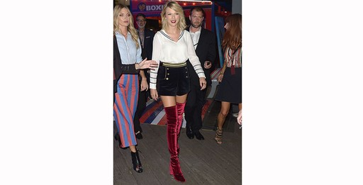 Taylor Swift no desfile de Tommy Hilfiger