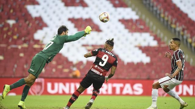 Muriel, Gilberto e Gabriel em Fluminense x Flamengo