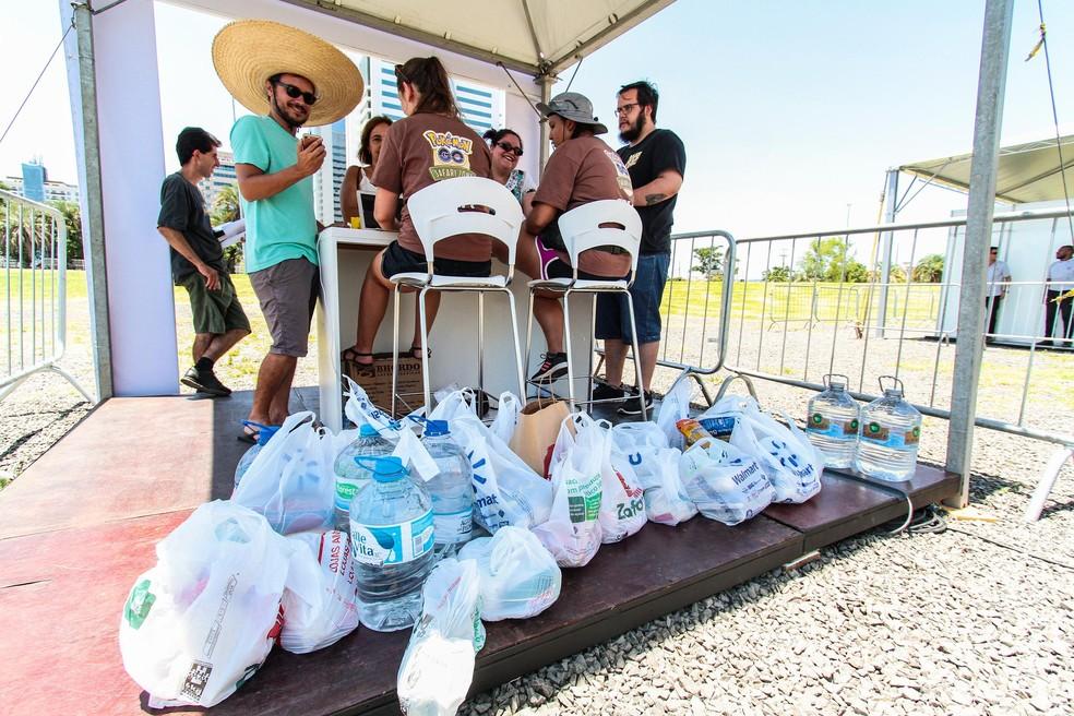 Jogadores ganhavam itens no jogo para cada doação para Brumadinho — Foto:  Reprodução: Ana Krack/PMPA