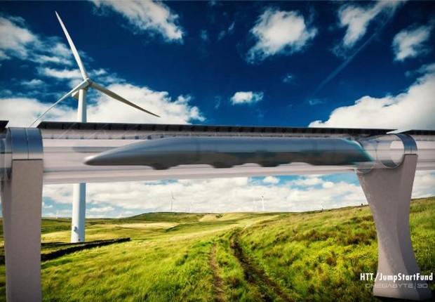 Projeto da Hyperloop Transportation Technologies (Foto: Divulgação)