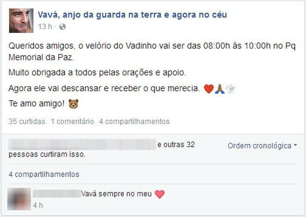 Velório de brasileiro morto em acidente na Itália é velado em Jundiaí (Foto: Facebook/Reprodução)