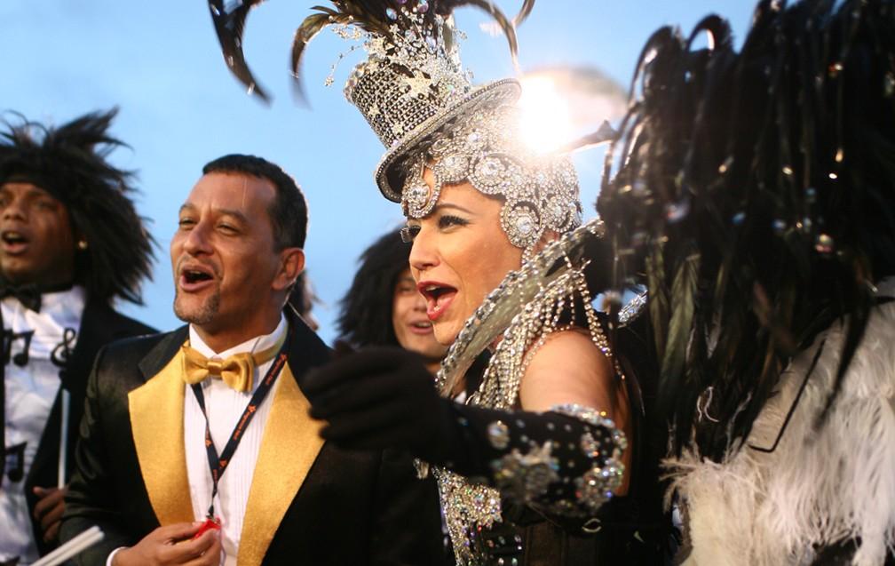 A cantora Maria Rita sambou no Anhembi pela Vai-Vai. — Foto: Daigo Oliva/G1