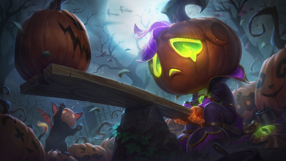 Amumu Príncipe Pumpkin is one of the Halloween 2020 skins present in Patch Notes 10.21. (Image: Riot Games)