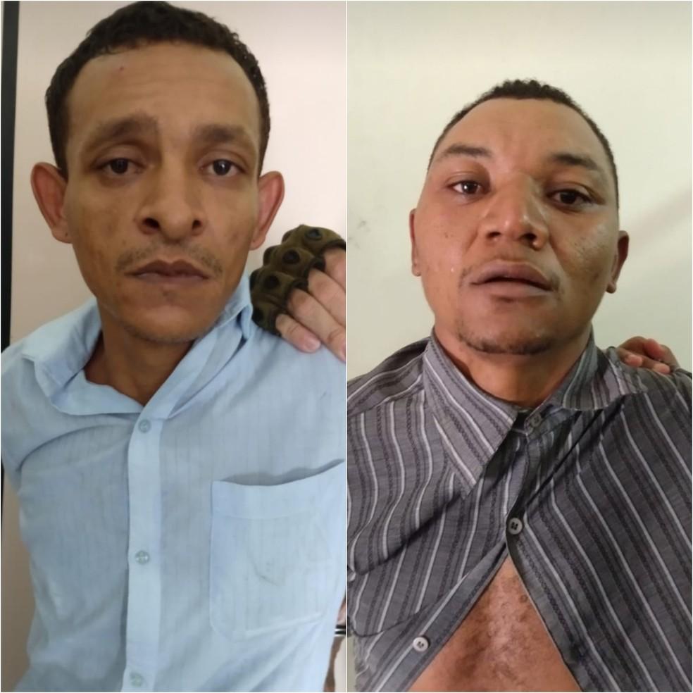 Leandro Silva e Silva e Raimundo Nonato de Morais Viana tentaram assaltar a agência dos Correios em Alto Alegre do Maranhão (MA) — Foto: Divulgação/Polícia Militar