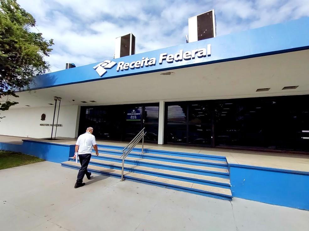 Sede da Receita Federal no Amapá, no Centro de Macapá — Foto: Fabiana Figueiredo/G1