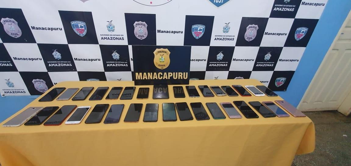 Durante ações, polícia de Manacapuru recupera mais de 30 celulares roubados ou furtados