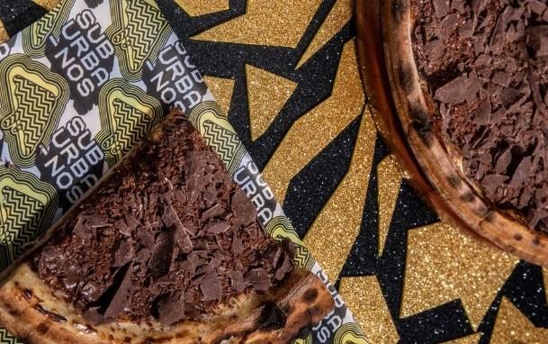 Suburbanos: pizza com chocolate ao leite da Katz.