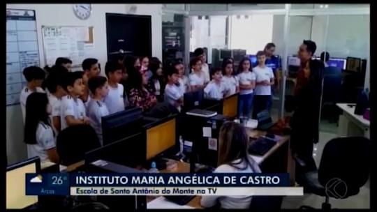 Alunos de Santo Antônio do Monte visitam a TV Integração