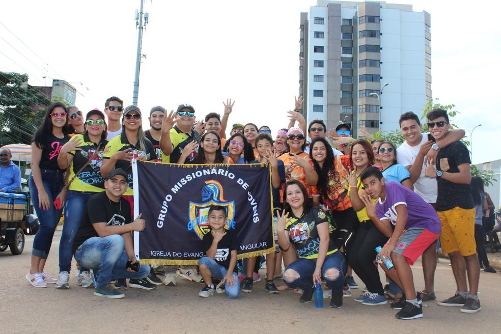 Evento reuniu fiéis de diversas denominações (Foto: Pedro Bentes/ G1)